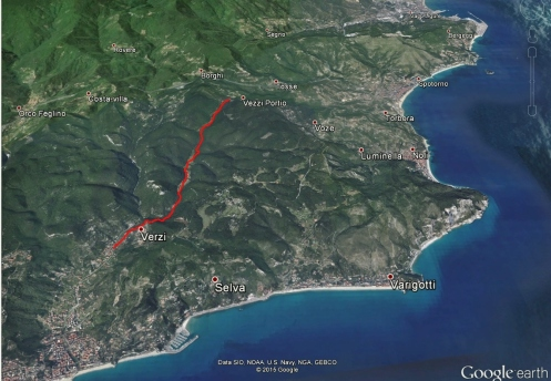 Sentiero 421 su Google Earth