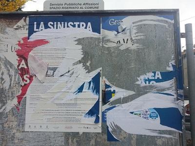 Manifesti Cavagneschi strappati