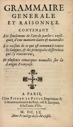 Grammaire Port Royal