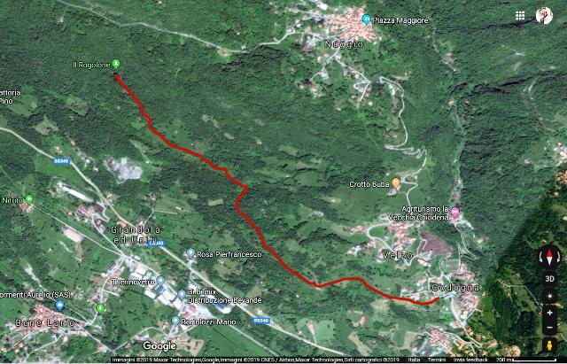 Sentiero per il Rogolone proiettato su Google maps.png